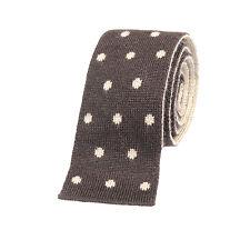 Brunello Cucinelli Cashmere-Silk Blend Skinny Knit neck Tie NEW BC20