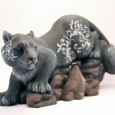Black Cat Figurine Sculpture Collectible Worldwide Shipping 100% Handmade