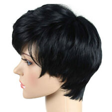 DIY Hair Black Pixie Short Grilling Cut Wigs None Lace Wig For Black Women US
