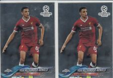 Lot of 2 2017-18 Topps Chrome UEFA Trent Alexander-Arnold Rookie Cards RC #29