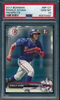 PSA 10 RONALD ACUNA JR. 1st 2017 Bowman Paper Braves Rookie Card RC GEM MINT