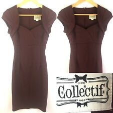 Gorgeous Collectif Womens Dress XS 8 Ladies Retro Rockabilly Pin Up 50s Bodycon