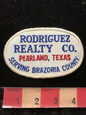 Vtg RODRIGUEZ REALTY CO. PEARLAND TEXAS BRAZORIA COUNTY Advertising Patch 00M5