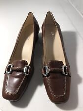 Geox Respira Womens 38(8) Brown Leather Pumps Wore 1X  Comfort Quality Brazil
