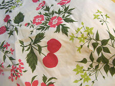 Vintage Liberty of London Scarf Fruit Cherries Strawberries  Cotton 25""