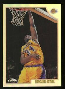 1998-99 Topps Chrome Refractor #175 Shaquille O'Neal Los Angeles Lakers HOF