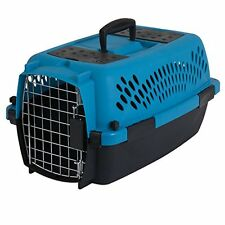 Petmate 21087 Pet Porter Fashion Dog Crate Pets Up to 10 Pounds Blue Air Brown