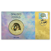 Australia 2020 Opalised Fossils Stamp & Medallion Cover- PNC Limited Edition/200