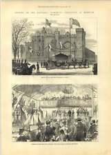 1881 apertura NATIONAL FISHERIES ESPOSIZIONE Norwich Drill Hall
