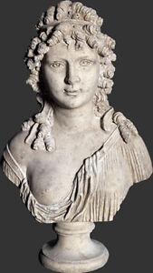 Angelique Greek Goddess Bust Statue figurine, ex display