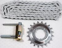 Set Shimano Steck-Zahnkranz 20 Zähne/Kette NX10 Antirost mit Werkzeug