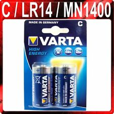 2 x C VARTA HIGH ENERGY BATTERIES Alkaline 1.5v Batteries LR14 AM2 MN1400 BABY