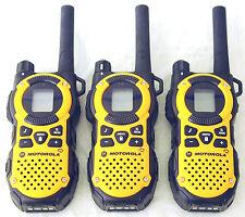 3 Motorola MT350R FRS GMRS 2-WAY Radio Walkie Talkie Ni-MH Weather VOX Vibracall