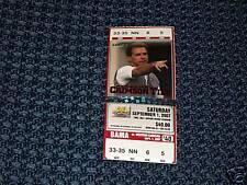 1 unused Alabama vs W Carolina ticket-Nick Saban 1st game and picture on ticket