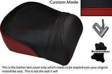 Negro Y Rojo Oscuro Custom encaja Suzuki intruso Vl 1500 98-04 trasera cubierta de asiento