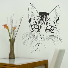 Gatito Cabeza - Casa Gato Adhesivo / Grande Decoración / Pared CA10