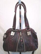 Tulah Ray Large Burgundy Leather Split Satchel Crossbody/Shoulder Handbag  EUC!!
