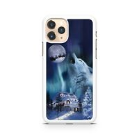 Howling Wolf Animal Star Light Santa Clause Reindeers Full Moon Phone Case Cover