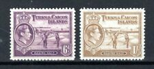 More details for turks and caicos islands 1938-45 6d and 1s mh