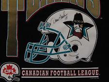 1995 Cfl Football San Antonio Texans T-shirt Autograph by David Archer Xl unworn