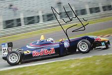 Carlos Sainz Jr SIGNED 9x6 Red Bull F3 Dallara, British F3 Silverstone 2012