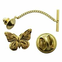 Monarch Butterfly Tie Tack ~ 24K Gold ~ Tie Tack or Pin