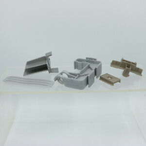 1967 Gray Silver Hot Wheels Track Clamp + Connector + Parts