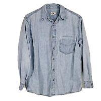Calvin Klein Jeans Denim Button Up Shirt Cotton Blue Jean Small C19