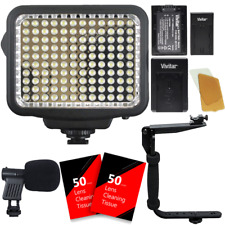 120 Led Video Light with Accessories for Cameras and Camcorders