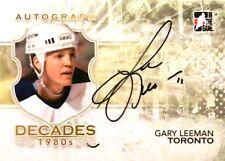 10-11 itg decades 80s gary leeman toronto maple leafs autograph auto