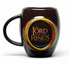 OFFICIAL LORD OF THE RINGS ONE RING BLACK GOLD OVAL COFFEE MUG CUP IN GIFT BOX