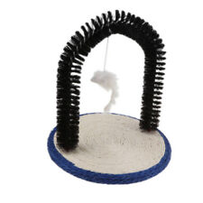 Self Grooming Cat Massage Arch with Scratching Pad and Mouse Toy