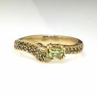 0.91 tcw Fancy Intense Yellow Diamond Ring Size 6.5 14K Gold GIA DKP Design USA
