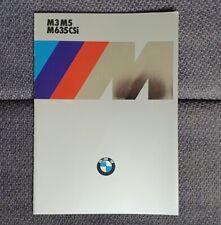 Prospetto BMW M 635 CSI m3 m5 e24 e30 e28 1986 m635csi brochure