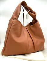 AUTH NWT $595 Staud Women's Island Large Knotted Smooth Leather Tote Bag In Tan
