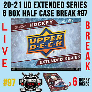 - 2020-21 UD EXTENDED SERIES HOCKEY 6 BOX HALF CASE BREAK #97