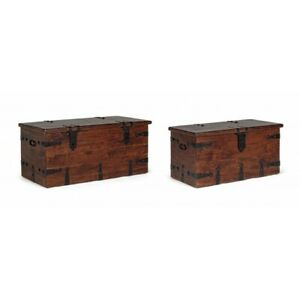 Chest Jaipur, 2 Set, Wooden Acacia
