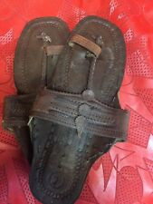 BUFFALO SANDALS Unisex 60S RETRO SANDAL 10 5/8 In Long Flats Shoes Size 7