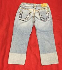 TRUE RELIGION BOBBY SUPER T Cropped Capris Size 25 Great Condition.