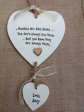 Shabby personalised Gift Chic Heart Plaque Special Best Auntie Aunty Aunt Gift