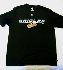 BALTIMORE ORIOLES MAJESTIC E SYSTEM PERFORMANCE T SHIRT BLACK - USED - LARGE