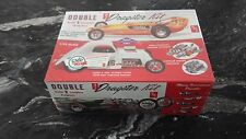 Amt 1/25 Double 3 In 1 Dragster Model Kit Builds 2 Complete Models # 646 F/S