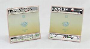 Cornice Porta foto Bambina in argento e legno da tavolo per Bimba made in Italy