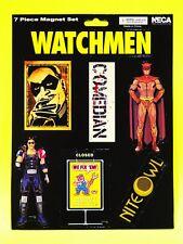 Watchmen 7 Piece Magnet Set DC Comics Nite Owl Comedian Alan Moore Dave Gibbons