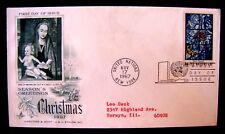 UNITED NATIONS FIRST DAY OF ISSUE CHRISTMAS 1967, USED (SEE DESCRIPTION)