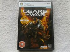 GEARS OF WAR PC DVD ROM FAST POST ( security tag sealed has pictured )