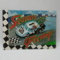 "1995 NASCAR Press Pass  3 3/4"" x 5"" SEASON'S GREETINGS Postcard"