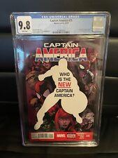 Captain America #25 CGC 9.8 Sam Wilson becomes The New Captain America