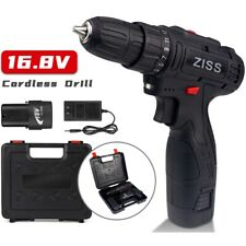 "16.8V Electric Cordless Drill 3/8""Mini Wireless Power Driver Screwdriver+Battery"