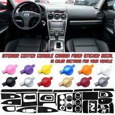 5D Carbon Fiber Vinyl Film Interior Center Console Sticker For Mazda 6 06-14
